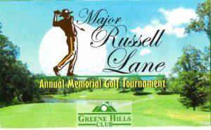 Major Russel Lane Annual Memorial Golf Tournament @ Greene Hills Club